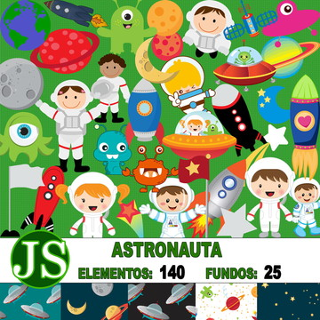 Kit Digital Scrapbook Astronauta