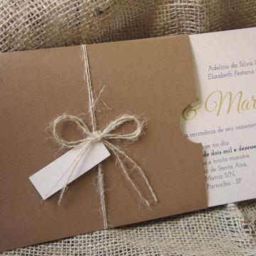 Convite Rústico de Casamento