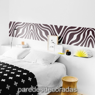Adesivo Cabeceira Manchas de Zebra
