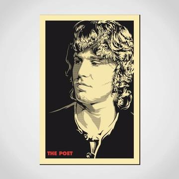 Placa Decorativa Jim Morrison the poet