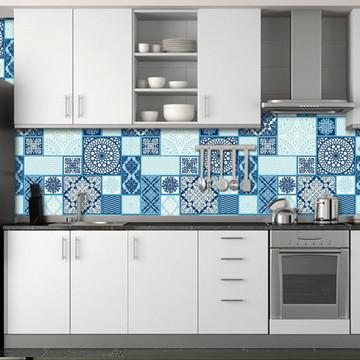 Papel de Parede para Cozinha (Azulejos)