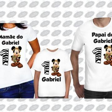 kit camisetas Mickey listrado