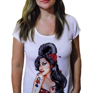 Camiseta Feminina Amy winehouse fashion