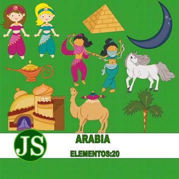 Kit Digital Scrapbook Arabia