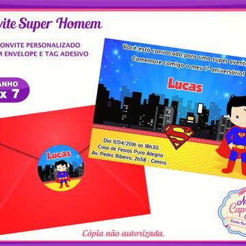Convite Super Homem Cute
