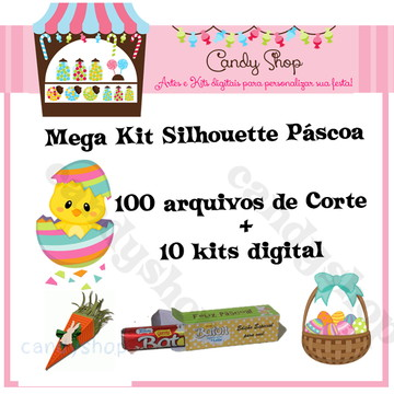 Kit Corte Páscoa Silhouette + Cliparts