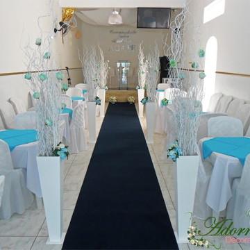 Aluguel Decoração Cerimônia Casamento Azul Tiffany Igreja