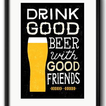Quadro Cerveja Frase Decoração com Paspatur