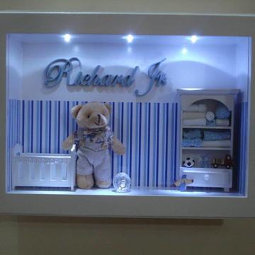 Enfeite de porta maternidade, urso led
