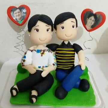 Topo de bolo bodas