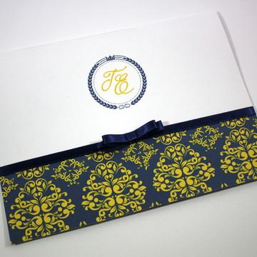 Convite Dual / Azul e Amarelo