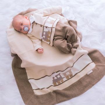 Saída Maternidade Trenzinho Marrom
