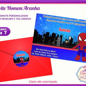 Convite Homem Aranha Cute