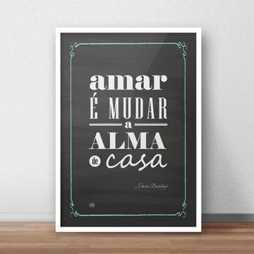Chalkboard Amar é - Quintana - A4