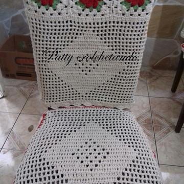 Capa de Cadeira em crochê individual
