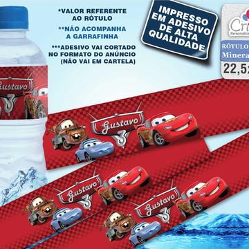 Rótulo água mineral - Carros da Disney