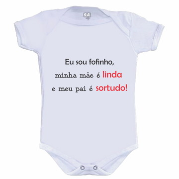 Body /Camisetinha Pai Sortudo!