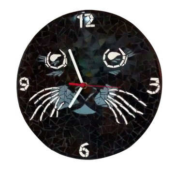 Relógio Gato Preto