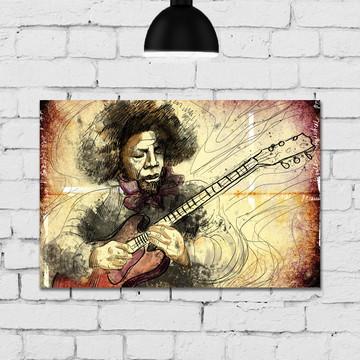 Placa Decorativa MDF 20x30 Musico