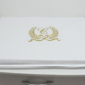 Trocador Provençal Branco e Dourado