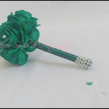Mini Buquê para madrinhas - Todo Verde