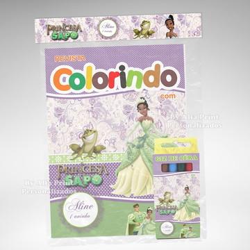 Kit Colorir A Princesa e o sapo + Brinde