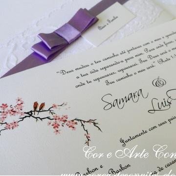 Convite Renda lilás