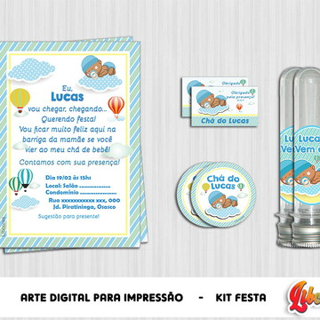 Kit digital Chá de Bebê Balões