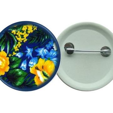 Botton 3,5 - Chita azul Flores - Boton