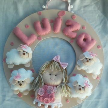 Enfeite Porta Maternidade Luíza boneca o