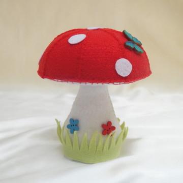 Cogumelo Vermelho em Feltro