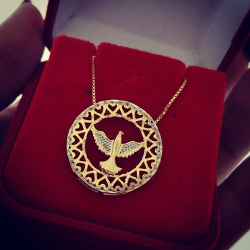 Gargantilha Medalha Espírito Santo