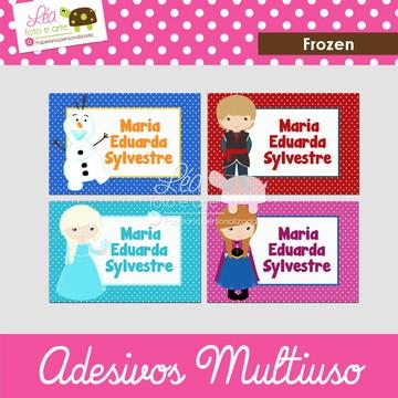 Adesivos material escolar - Frozen
