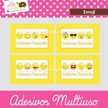 Adesivos material escolar - Emoji