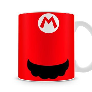 Caneca Mario Bros Bigode