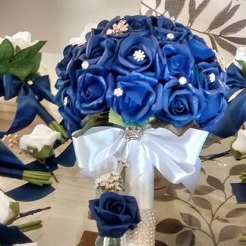 Bouquet Di Azul & lapela noivo