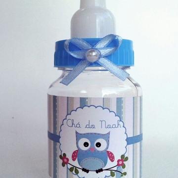 Mamadeira personalizada coruja azul