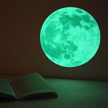 Adesivo Lua Que Brilha No Escuro - 20cm