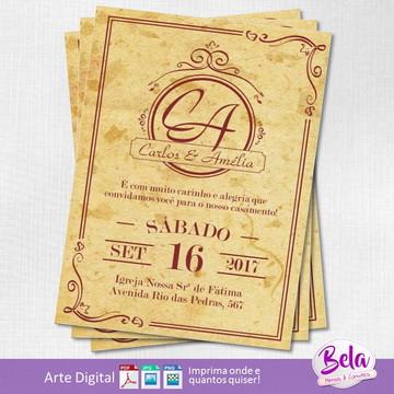 Convite Digital Casamento Vintage