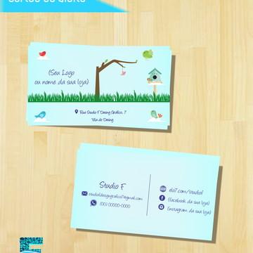 Cartão de Visita Personalizado IMPRESSO ou Arte
