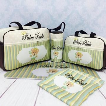 Bolsa bebê 5 pçs personalizada c/ nome