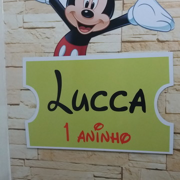 Placa de Pvc Mickey