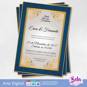 Convite Digital Casamento Elegante