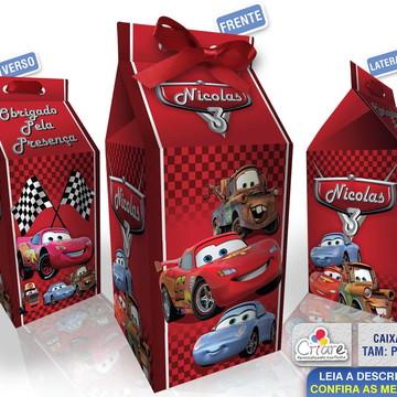 Caixa Milk Pequena - Carros da Disney