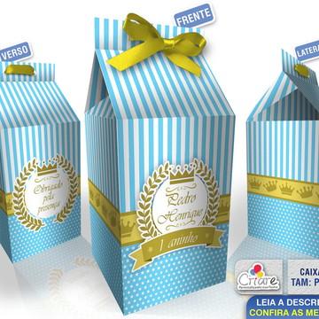 Caixa Milk Pequena - Coroa Azul