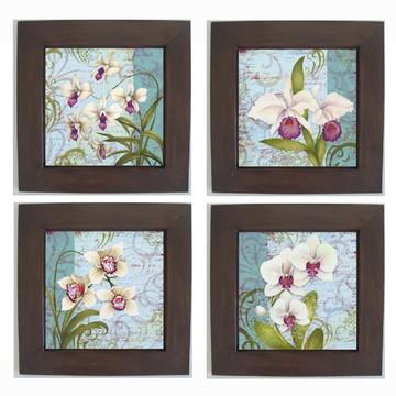 Quarteto de Quadros Decorativos Vintage