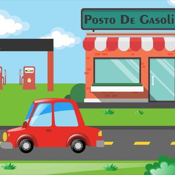 Painel Posto de Gasolina - Frete Grátis
