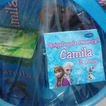 Kit Cinema Frozen com suco