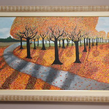 """Pintura em Tela - """"Luzes de Outono"""""""