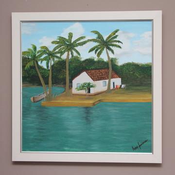"""Pintura em Tela - """"Casinha no Mundaú"""""""